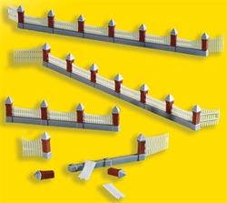38630 Забор каменный c 3-мя воротами 77см - фото 12091
