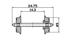 40194 Колесные пары (изолированные) Ø9 мм (2шт.) - фото 12130