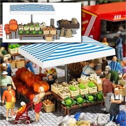 1070 Овощной рынок 1 (без фигурок) - фото 12325