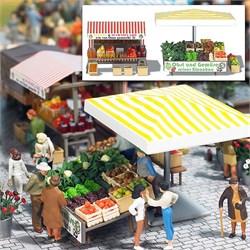 1071 Овощной рынок 2 (без фигурок) - фото 12326