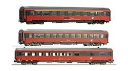 54240-54241-54242 Пассажирские вагоны «Eurofima» (3 шт.), H0, V, ÖBB - фото 12392
