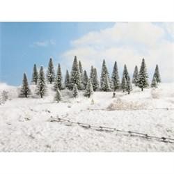 26928 Ели в снегу деревья 50-140мм (10шт.) - фото 12560