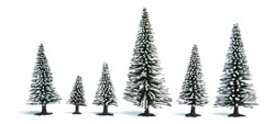 26929 Ели в снегу деревья 50-90мм (5шт.) - фото 12562