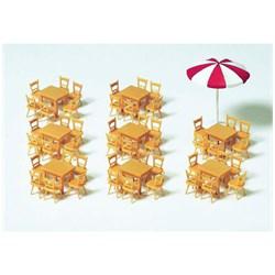 17201 Зонт, столы(8)+стулья в кафе(48) - фото 12630