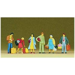 10114 Люди с чемоданами, сумками - фото 12664
