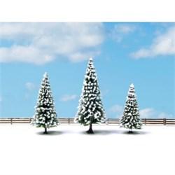 25234 Елки в снегу 8-12см (3шт.) деревья - фото 12812