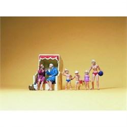 10438 Пляж, дети, шезлонги  - фото 12841