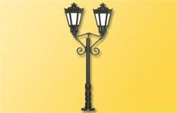 6077 Парковый фонарь черный тройной (h-65мм) - фото 13065