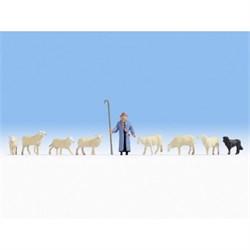 15748 Пастух, собака, овцы - фото 13070