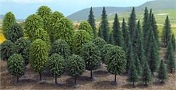 6591 Смешанный лес (50шт) деревья - фото 13232