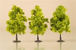 70937 Деревья лиственные (3) светло-зеленые 11 см - фото 13243