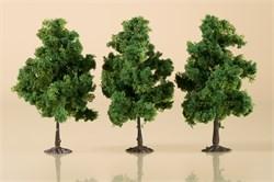 70938 Деревья лиственные (3) темно-зеленые 11 см - фото 13245