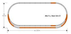 61152 Набор развития пути C1 на призме, H0, geoLine - фото 13324