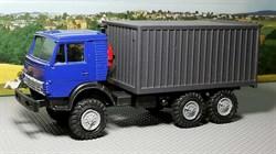 RUSAM-KAMAZ-4310-05-750 Автомобиль КамАЗ 4310 контейнер (синий) (зеркала), 1:87, 1979, СССР - фото 13483