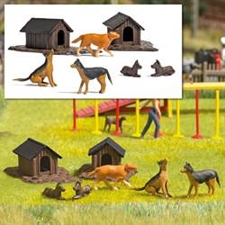 1197 Собаки, будки ( набор ) - фото 13558