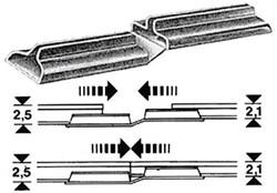 6437 Соединитель рельс 2,1мм и 2,5мм (10шт.) - фото 3581