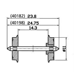 40198 Колесные пары (изолированные) Ø11 мм (2шт.) - фото 5416