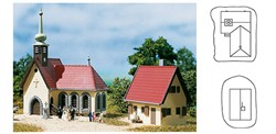 14461 Деревенская церковь с домом пастора - фото 5486