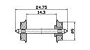 40194 Колесные пары (изолированные) Ø9 мм (2шт.)