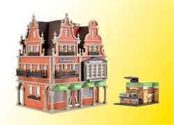 43842  Дом с книжным магазином с освещением (романтик-коллекция)