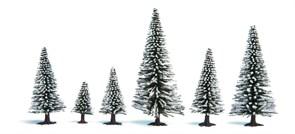 26929 Ели в снегу деревья 50-90мм (5шт.)