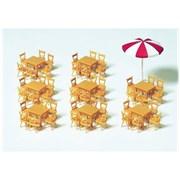 17201 Зонт, столы(8)+стулья в кафе(48)