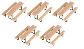 180963 Пивные столы,скамейки (5шт)