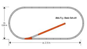 61150 Набор развития пути A1 на призме, H0, geoLine