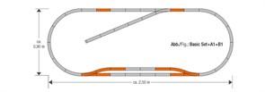 61151 Набор развития пути B1 на призме, H0, geoLine