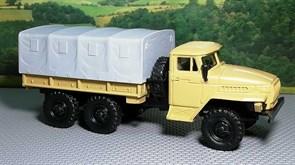 RUSAM-URAL-4320-10-400 Грузовой автомобиль УРАЛ 4320 бортовой съёмным тентом, 1:87, 1977, СССР