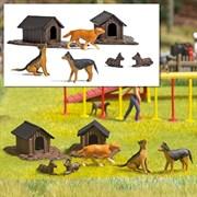 1197 Собаки, будки ( набор )