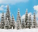 6465 Деревья Елки в снегу 60 - 135 mm (10) + снеговик